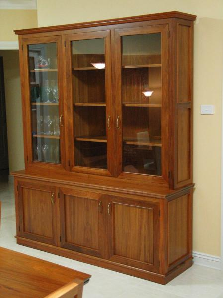 3 DOOR LIBRARY UNIT/BUFFET AND HUTCH