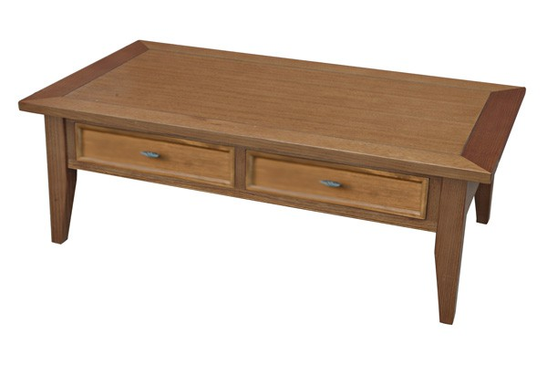 FARMHOUSE COFFEE TABLE 2 DRAWER