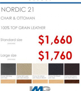 IMG SPECIAL OFFER NORDIC 21 RECLINER CHAIR IN LEATHER