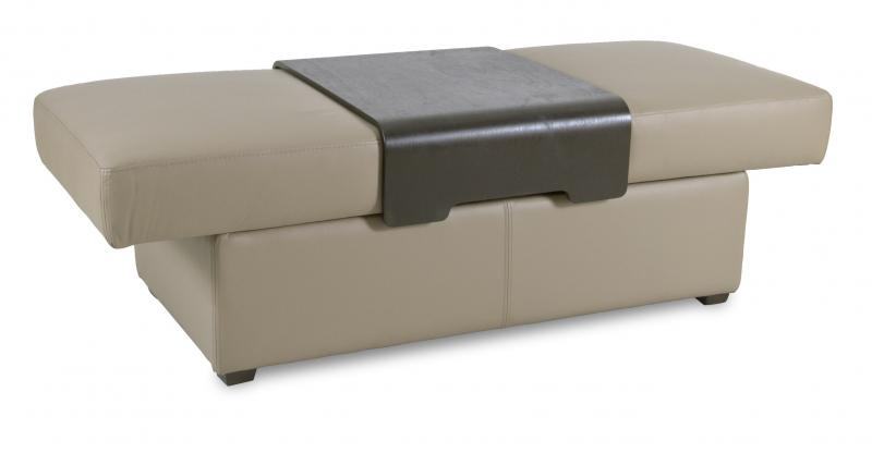 IMG LEATHER LARGE STORAGE OTTOMAN WITH TRAY