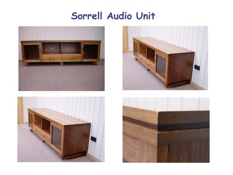 SORRELL AUDIO TV ENTERTAINMENT UNIT TV STAND