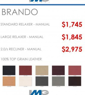 IMG SPECIAL OFFER IMG BRANDO RELAXER RECLINER CHAIR IN LEATHER