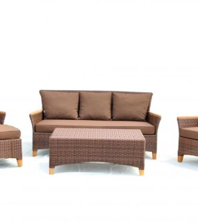 RESIN WICKER LOUNGE FOR OUTDOOR