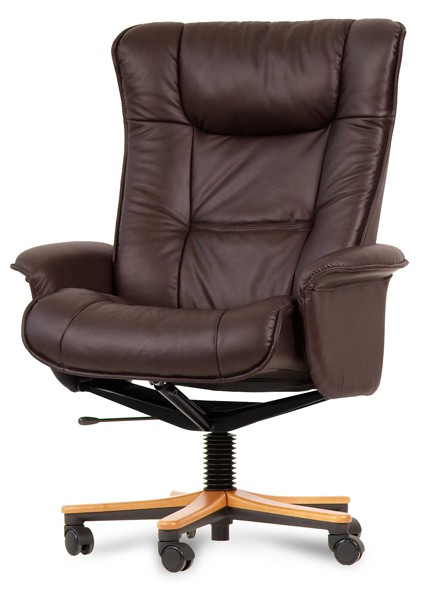 IMG LEATHER WINDSOR OFFICE CHAIR