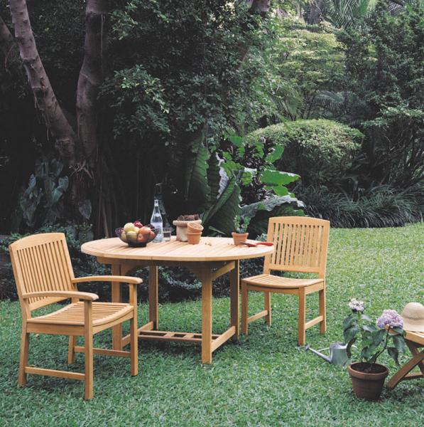 COTSWOLD OUTDOOR TEAK CUMBERLAND SIDE & ARMCHAIRS WITH LANCASTER OVAL EXTENSION TABLE