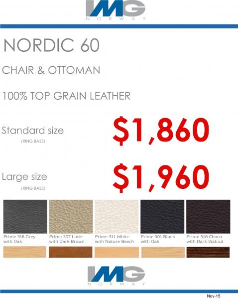 IMG SPECIAL OFFER NORDIC 60 RECLINER CHAIR IN LEATHER