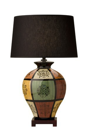 GRIFFIN LAMP WITH SHADE