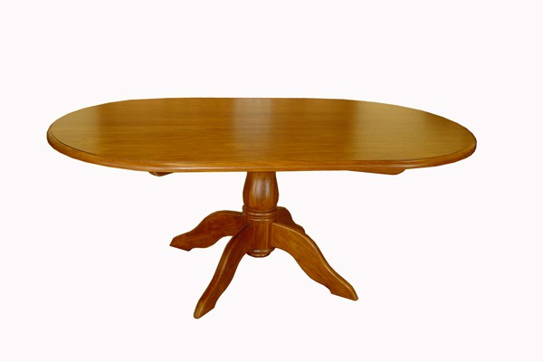 PEDESTAL OVAL DINING TABLE