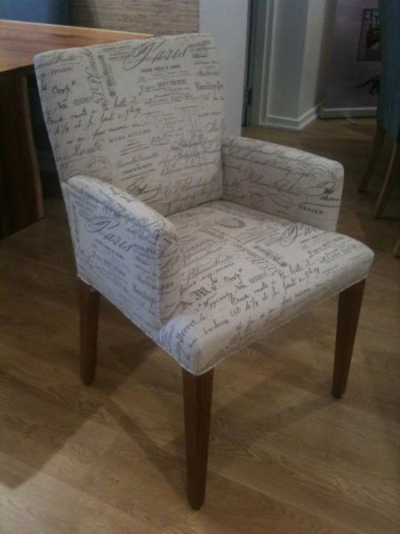 DINING CHAIR CARVER CHAIR FULLY UPHOLSTERED JIMMY